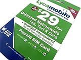 Factory Preloaded LYCAMOBILE Mini+Micro+Nano(3in1)SIMCard + $29 X 2 Months
