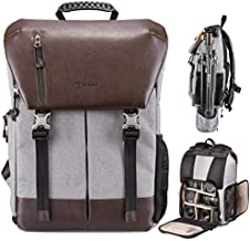TARION Camera Backpack Waterproof Camera Bag Waterproof Certified IPX5 Large Capacity Side Access with 15.6 Inch Laptop Compartment Rain Cover for Women Men Photographer Lens Tripod Tablets