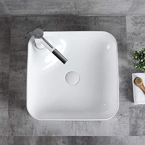 QuRong Schip zinken eenvoudige dunne rand van de badkamer make-uptafel porseleinen keramische schaal voor thuis voor thuis hotel