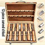 WY-YAN Talla profesional cincel talla de madera de la mano Juego de cinceles de la carpintería profesional Torno formones herramientas de bricolaje Artcrafts mano Toos Set (Color : AS SHOWN2)