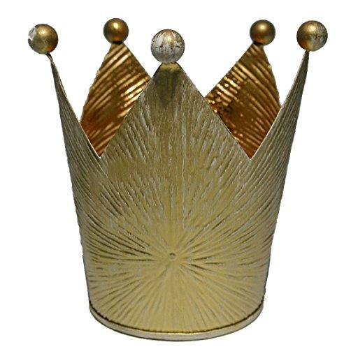 Bellaflor Lot de 3 couronnes en métal/Couleur doré/Ø 10 cm Hauteur 11,5 cm