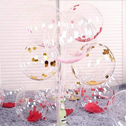 10 Stück 20 Zoll Bobo Ballon Transparente Luftballons für LED Leuchten Ballons Geburtstag Hochzeit Weihnachtsdekore (Led String nicht enthalten)