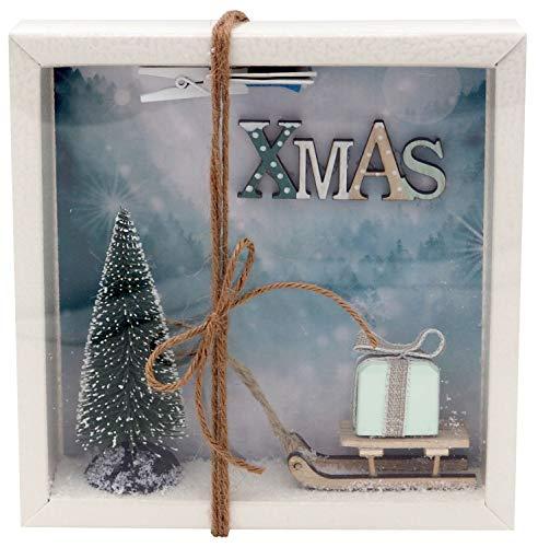 ZauberDeko Geldgeschenk Verpackung Weihnachten Gutschein Schlitten Xmas Geschenk Mint