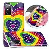 LNLYY Galaxy S20 Fe Funda Carcasa Suave Silicona TPU Case Cover Enchapado Amor para Samsung Galaxy S20 Fe