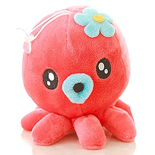 ZooooM タコ 蛸 モチーフ デザイン クッション 枕 人形 プレゼント ぬいぐるみ まくら (レッド) ZM-CS3784-RD