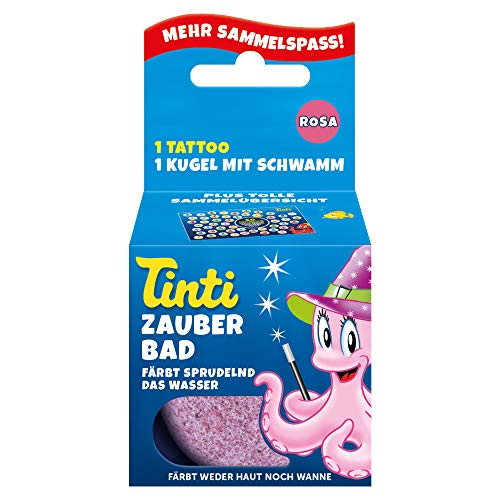 Tinti Zauberbad Rosa - Sprudelnde Badekugel mit Überraschung, 1er Pack