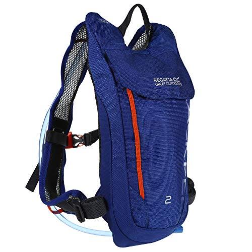 Regatta Blackfell III 2L Reflective Hardwearing Hydration Backpack - Surf Spray/Blaze, Single