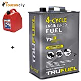 Toucan City Gas Can and TruSouth TruFuel 110 oz. 4-Cycle Ethanol-Free Fuel 6527206