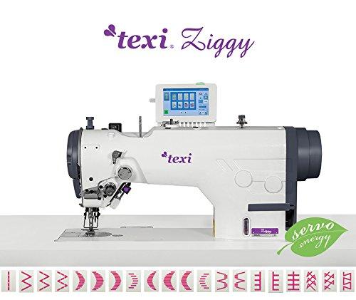 TEXI Máquina de coser industrial, en zigzag y recta, totalmente automática, máquina de coser industrial, completa (con mesa y estructura)
