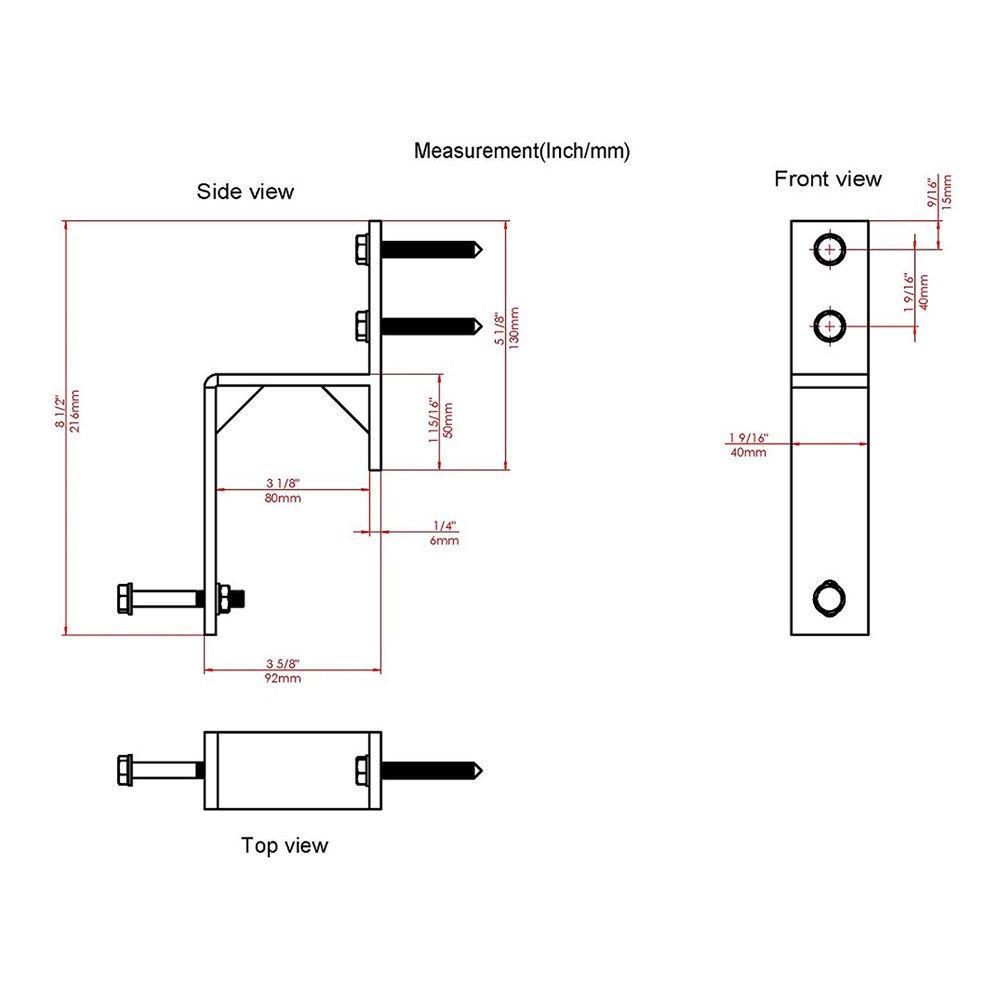 Soporte de pared plano de acero negro para puerta corredera, juego de 2: Amazon.es: Bricolaje y herramientas