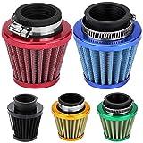 Filtro de aire de 38 mm, filtro de aire reemplazo para motocicleta 38 mm, kit de inducción de admisión de filtro de aire Compatible con motocicleta todoterreno ATV Quad Dirt Pit Bike Gold(Negro)