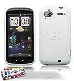 Muzzano F04S05-106280 - Funda para HTC Sensation, con 3 protectores de pantalla, color blanco