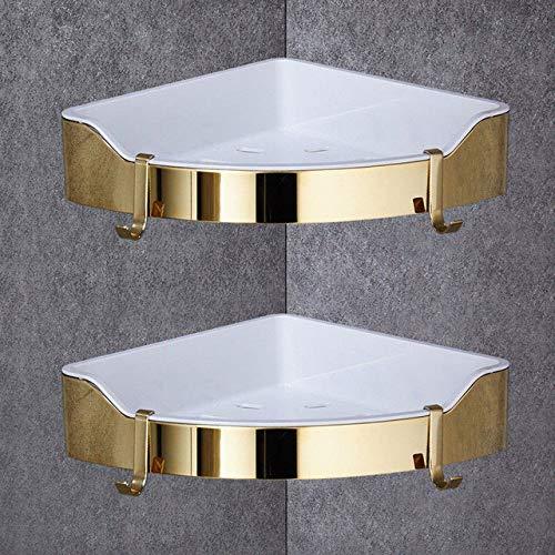 QBVADE Badkamerrek Zwart badkamer hoekplank 304 Roestvrijstaal doucheruimte rek voor body wash fles toilet hoek tafel rek houder