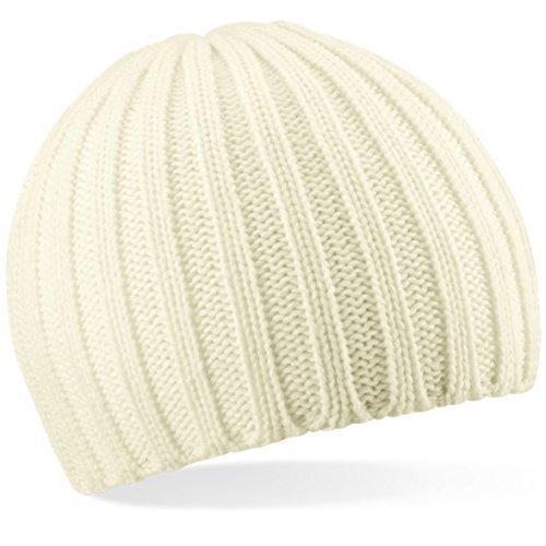 Shirtinstyle Bonnet en Tricot de Laine, Fashion-Hat, Bonnet d'hiver - Blanc, Taille Unique