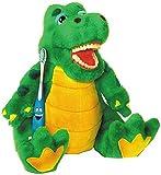 Zahnkönige | Plüschtier Puppe Alligator Krokodil | inkl. 1 Zahnbürste | ca. 20-30cm | Zahnarzt...