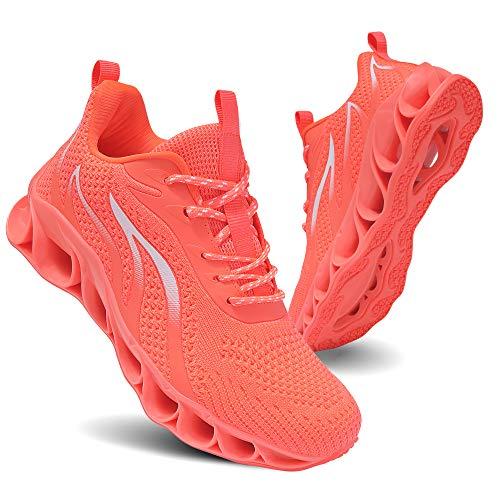 TIAMOU Running Shoes Women Walking Shoe Women Fashion Sneakers Comfort Running Athletic Shoes Orange