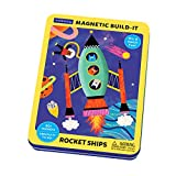 Mudpuppy Rocket Ships Magnetic Build-It Game – Magnetic Toys for Ages 4+, Fun & Compact Travel Activity for Kids, Includes 60+ Magnets and Durable Storage Tin