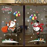 SZXCX Decoración navideña Etiqueta de Ventana de Navidad Etiqueta estática de Doble Cara Etiqueta de Vidrio para Ventana de Hotel de Compras - G