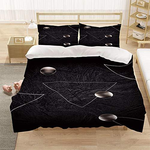 Bedclothes-Blanket Cubierta de la Cubierta de la Microfibra de Color 3D con la Cubierta de la Cremallera y el Cierre de la Cremallera (1 Cubierta del edredón + 2 Casas de Almohadas)-9_220 * 260cm