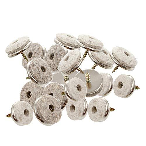 Fenteer Almohadillas de Fieltro para Muebles, Paquete de 20 Almohadillas de Fieltro para Protección de Muebles, Silla Deslizante, Patas de, Clavos de Diá