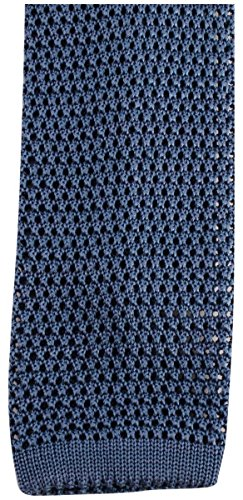 KJ Beckett Powder Blue Plain Knitted cravate de