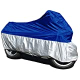 DP Design® - Lona cubre moto, funda protectora para moto, talla XL, impermeable, resistente a la lluvia, sol, hielo, granizo