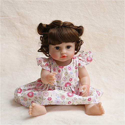 LBYB Real Tacto Realista Renacido muñecas, muñeca recién Nacido muñeca Hecha a Mano de la Muchacha Regalo de los Juguetes adecuados para Menores de 14 años,Rosado