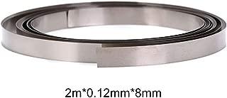 Shantan Pure Nickel Strip- Great 8mm x 0.1/0.12/0.15 Nickel Plating Steel Strip Tape for 18650 Soldering,Welding Compatible for Spot Welder Machine,Pure Ni Plate Welding Strip Tape