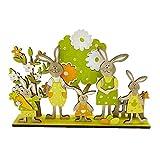 YHNJI Decoración de mesa de conejo de madera de Pascua para decoración de mesa de conejo de madera para decoración de fiesta de Navidad