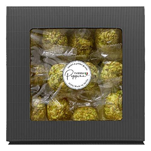 NONNA PIPPINA Pasticcini Siciliani, 1.000g, nur Pistazie, traditionell handgemachtes weiches Mandelgebäck aus Sizilien, in schöner Geschenk-Box