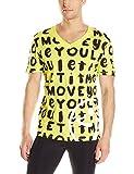 Zumba Fitness Hombre Let It Move You V Neck té, Todo el año, Hombre, Color Mell-Oh Yellow, tamaño Extra-Small