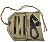 Soviet Army Original USSR Russian Mosin Nagant Rifle Cleaning Tools Kit with Canvas Carrying Pouch Stamped Screwdriver Military Surplus