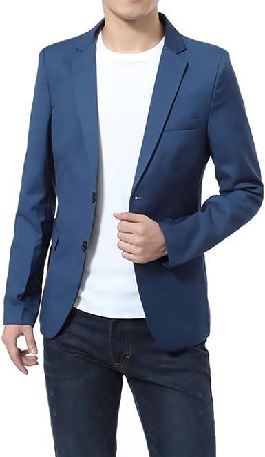 BOLAWOO Blazer Hombre Elegantes Casual Slim Fit Cuello Solapa Chaquetas Negocios Office Wear Chaqueta Americana Hombre