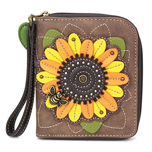 CHALA Zip-Around Wallet - Sunflower - Brown