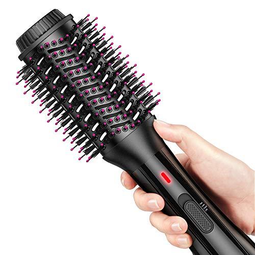 AEVO Hot Air Brush, Combination Hair Dryer Brush & Volumizer, Large Brush Surface,4-in-1 Hair Dryer, Styler, Curler, Straightener [3 Modes], Black