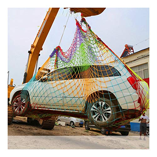 GZHENH Rope Net Nylon Net Environmental Protection Elastic Scalability Weather Resistant Truck Trailer Container Nets Outdoor Climb Net,Customizable (Color : Multi-colored-8mm, Size : 1x1m)