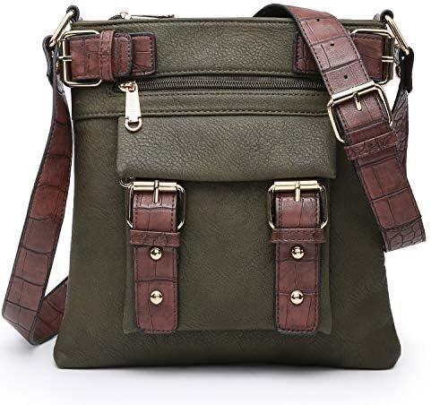 Army green crossbody bag