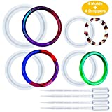 Palksky 4pcs Mix Size Resin Casting Bangle Mold/Bracelet Silicone Ring Circle Epoxy Mould for Jewelry Making DIY Crafts