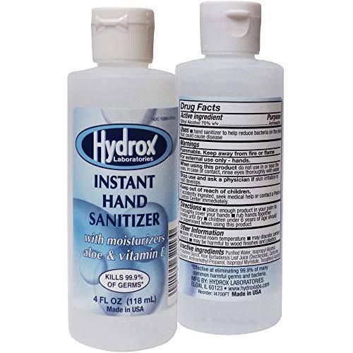Hydrox Instant Hand Sanitizer, Fragrance Free, 70% v/v ethyl...