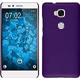 PhoneNatic Case kompatibel mit Huawei Honor 5X - Hülle lila gummiert Hard-case Cover