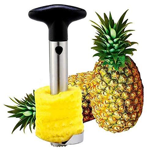 Universal Pineapple Corer Peeler Stem Stainless Steel Peel Cut Slicer Easy Kitchen Tool Corer Remover Diced Fruit Ring