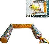 Kinderbettschutz'Dino's' - Kopfschutz fürs Babybett - Schutzkissen für Babys – 100% Baumwollbezug - Füllung mit antiallergischer Buchweizenschale - 180 cm - 1,8 kg - abwaschbarer...