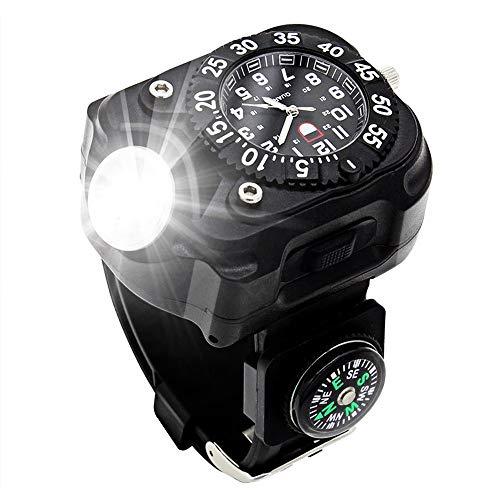 XHLLX Reloj con Linterna LED, 5W IPX-6...