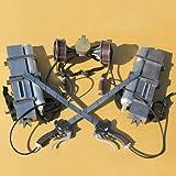 Attack On Titan 3D Maneuver Gear Alan The Animati PVC Cosplay Prop 0207