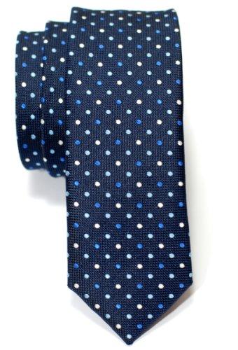 Retreez Corbata de microfibra fina con lunares de época tricolor para hombres
