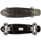 FunTomia Mini-Board 57cm Skateboard mit oder ohne LED Leuchtrollen inkl. Alu Truck und Mach1 Abec-11 Kugellager - 2