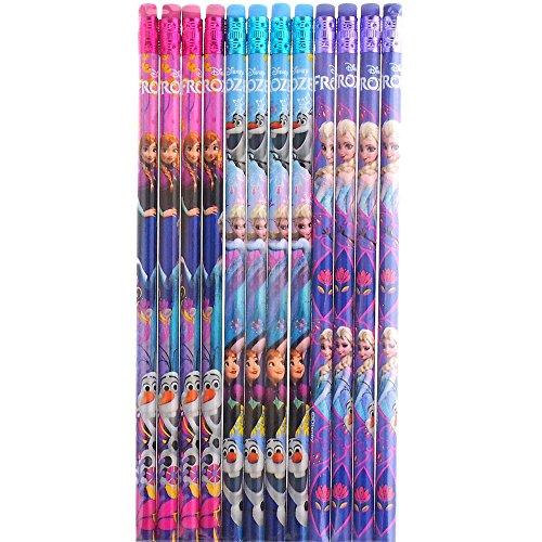 Disney Frozen Nice Design Colorful 12 Wood Pencils Pack