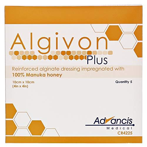 ALGIVON Alginat Plus Manuka-Honig-Alginat-Wundauflage, 10x 10cm