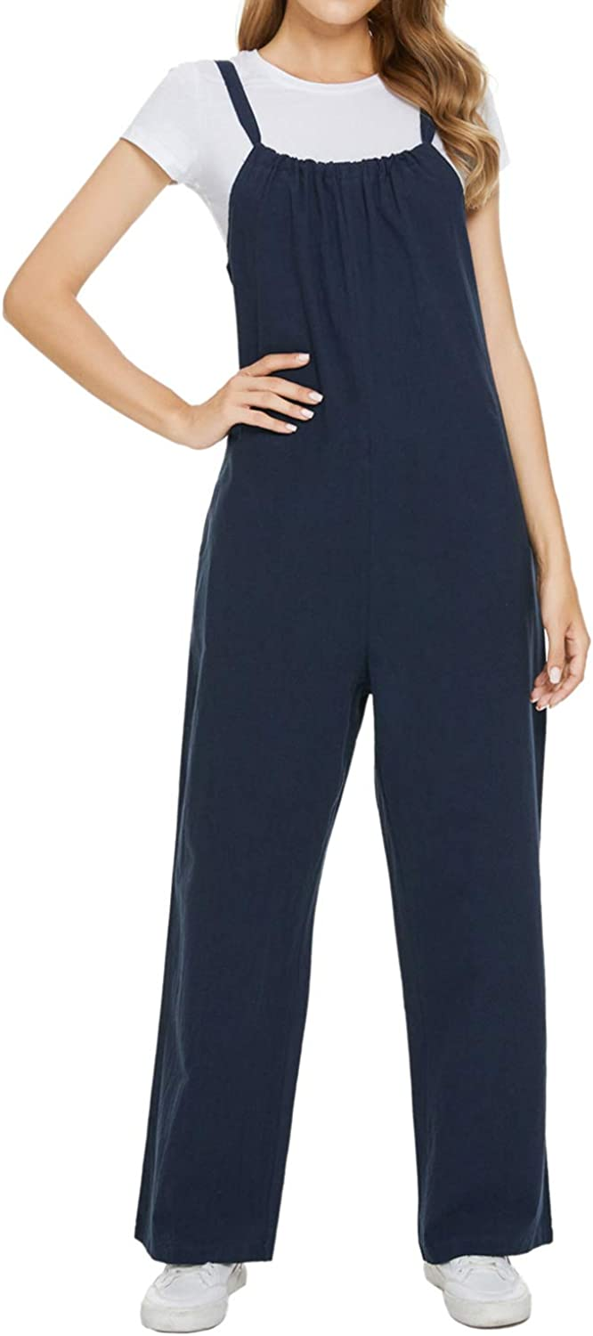 MINTLIMIT Women's Casual Cotton A surprise price is realized Jumpsuit O Solid SALENEW very popular! Plus Size Color