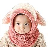 YiyiLai Winter Warm Kindermützen Zipfelmütze Schlupfmütze Mützenschal Sturmhauben Pink